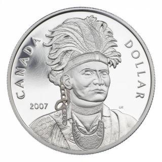 2007 Proof Silver Dollar - Joseph Brant (Thayendanegea)