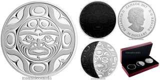 2017 - $30 - Phases of the Moon - 2 oz. Pure Silver Coloured 3-Coin Set