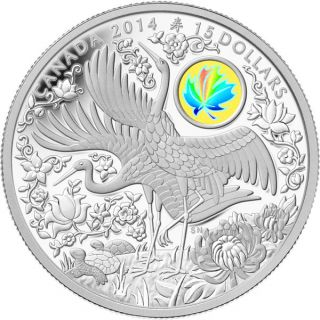 2014 - $15 - Fine Silver Hologram Coin - Maple of Longevity