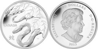2013 - $250 - Fine Silver One Kilogram Coin - Year of the Snake