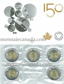 2015 Canada $2 Dollars Circulation Coin 5 Pack - Sir John A. Macdonald