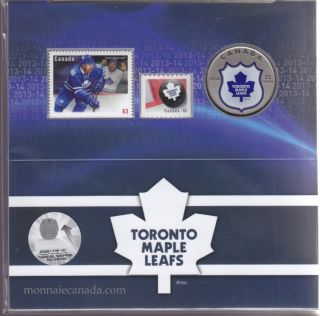 2014 - NHL Coin and Stamp Gift Set - Toronto Maple Leafs