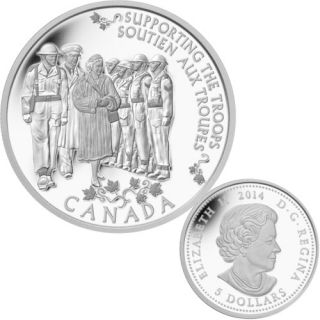 2014 - $5 - Fine Silver Coin - Princess to Monarch