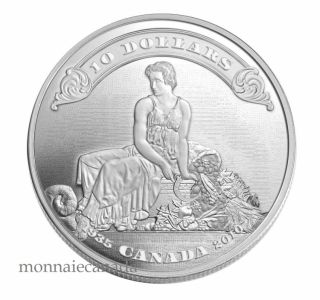 2010 - $10 - Fine Silver Coin - 75th Anniversary of the First Bank Notes