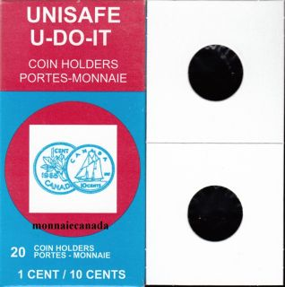 PACK OF 20 CARDBOARD FLIPS 2X2 COINS **One cent / Ten cents size **