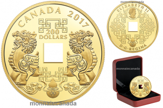 2017 - $200 - 28.25 g Pure Gold Coin - Feng Shui Good Luck Charms