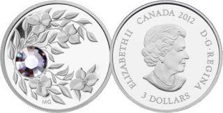 2012 - $3 - June Birthstone (Alexandrite) - Fine Silver Coin