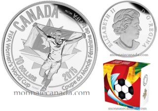 2015 - $10 - 1/2 oz. Fine Silver Coin - FIFA Women's World CupTM/MC : Celebration
