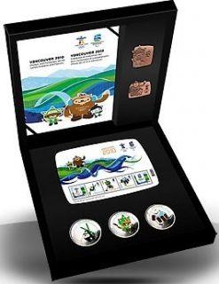 2010 - Vancouver  Emblems and Mascots Set