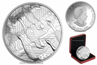 2016 - $30 - 2 oz. Fine Silver Coin – Pop Art: Celebrating the Canada Goose