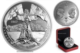 2017 - $100 - 10 oz. Pure Silver Coin - Canadian Confederation Medals: Historia Tua Epos Est