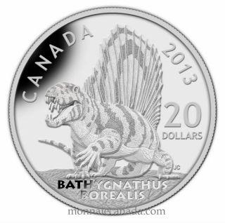 2013 -$20  fine silver coin - Canadian Dinosaurs -  Bathygnathus borealis