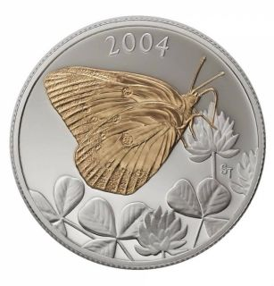 2004 - 50 cents - canadian Clouded Sulphur Butterfly