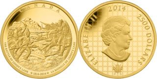 2014 - $2500 - Pure Gold One Kilogram Coin - The Battle of Lundy's Lane