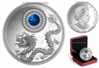 2016 - $5 - Pure Silver Coin made with Swarovski® crystal – Birthstones: September