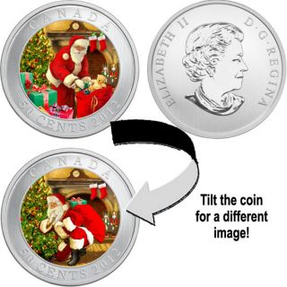 2012 - Santa's Magical Visit - 50-Cent Holiday Coin