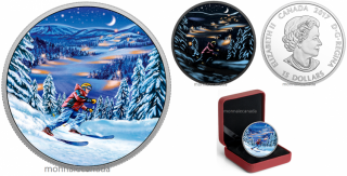2017 - $15 - Great Canadian Outdoors – Night Skiing - Pure Silver Glow-in-the-Dark