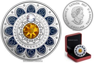 2017 - $3 - Pure Silver coin – Zodiac - Cancer