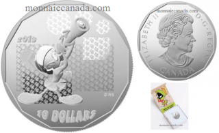 """2015 - $10 - 1/2 oz. Fine Silver Coin - Looney Tunes™: """"Where's the Kaboom?"""""""