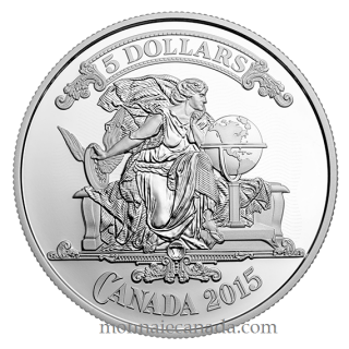 2015 - $5 - Fine Silver Coin - Canadian Bank Notes Series: Canadian Bank Note Vignette
