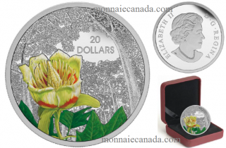 2015 - $20 - 1 oz. Fine Silver Coin - Forests of Canada: Carolinian Tulip-Tree