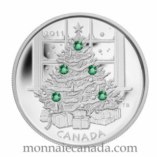 2011 - $20 - Fine Silver Coin - Christmas Tree