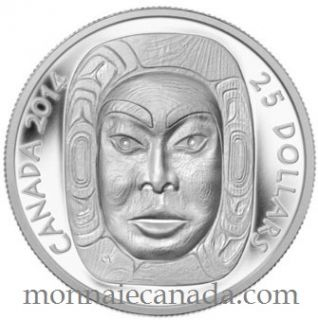 2014 - $25 - Fine Silver Ultra-High Relief Coin - Matriarch Moon Mask