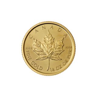 2015 - 1/4 oz Canadian Maple Leaf Gold Coin * PHONE ONLY *