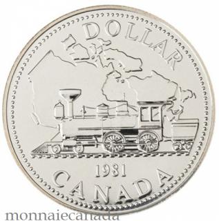 1981 DOLLAR EN ARGENT BRILLIANT UNCIRCULÉ