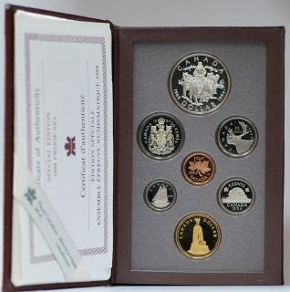 1994 CANADA DOUBLE DOLLAR PROOF SET RED CASE