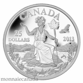 2013 - $25 - 1 oz Fine Silver Coin - Canada: An Allegory $25