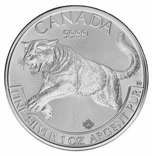 1 oz 2016 Cougar fine silver - predators serie - no tax