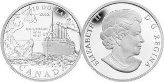 2012 - $10 -  R.M.S. Titanic - Fine Silver Coin