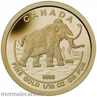 2014 - $5 - 1 oz. Fine Silver Coin - Woolly Mammoth