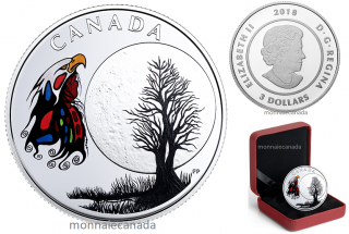 2018 - $3 - Pure Silver Coloured Coin - Thirteen Teachings From Grandmother Moon: Spirit Moon
