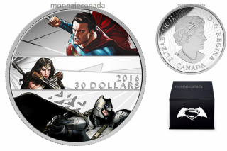 2016 - $30 - 2 oz. Fine Silver Coin – Batman v Superman: Dawn of JusticeTM