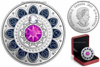 2017 - $3 - Pure Silver coin – Zodiac - Pisces