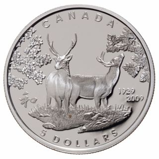 2009 - $5 - Sterling Silver Proof Coin - 80th anniversary of Canada in Japan
