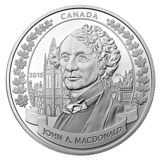 2015 - $20 - 1 oz. Fine Silver Coin - 200th Anniversary of the Birth of Sir John A. Macdonald