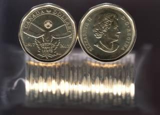 2017 Canada $1 Dollar - 100th Toronto Maple Leaf - BU ROLL 25 Coins - UNC