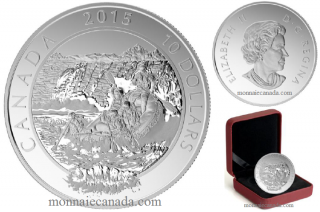 2015 - $10 - 1/2 oz. Fine Silver Coin - Adventure Canada: Whitewater Rafting