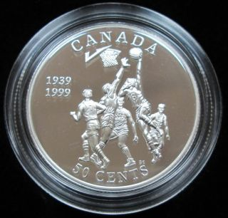 1999 CANADA 50 Cents Proof Sterling Silver - Invention of Basketball