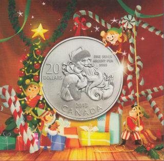 2013 - $20 for $20 Fine Silver Coin - Santa