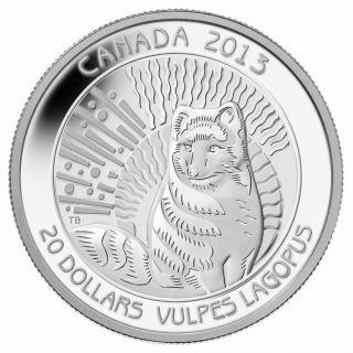 2013 - $20 - Fine Silver Coin - Arctic Fox