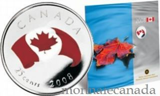 2008 - Oh Canada 25 Cents Coloured - gift set Commemorative