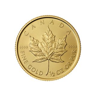 2015 - 1/2 oz Canadian Maple Leaf Gold Coin * PHONE ONLY *
