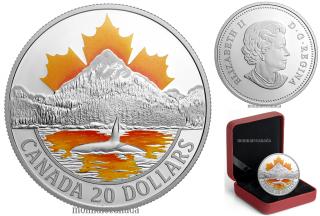 2017 - $20 - 1 oz. Pure Silver Coloured Coin - Canada's Coast Series: Pacific Coast