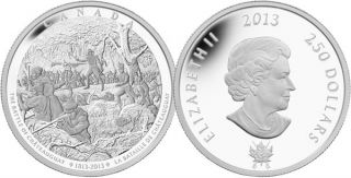 2013 - $250 - Fine Silver 1 Kilogram Coin - Battle of Châteauguay