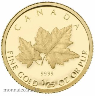 2009 - 50 Cents - 1/25-Oz Gold Coin - Red Maple