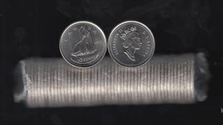 1995 Canada Roll 10 Cents - 50 Coins - UNC